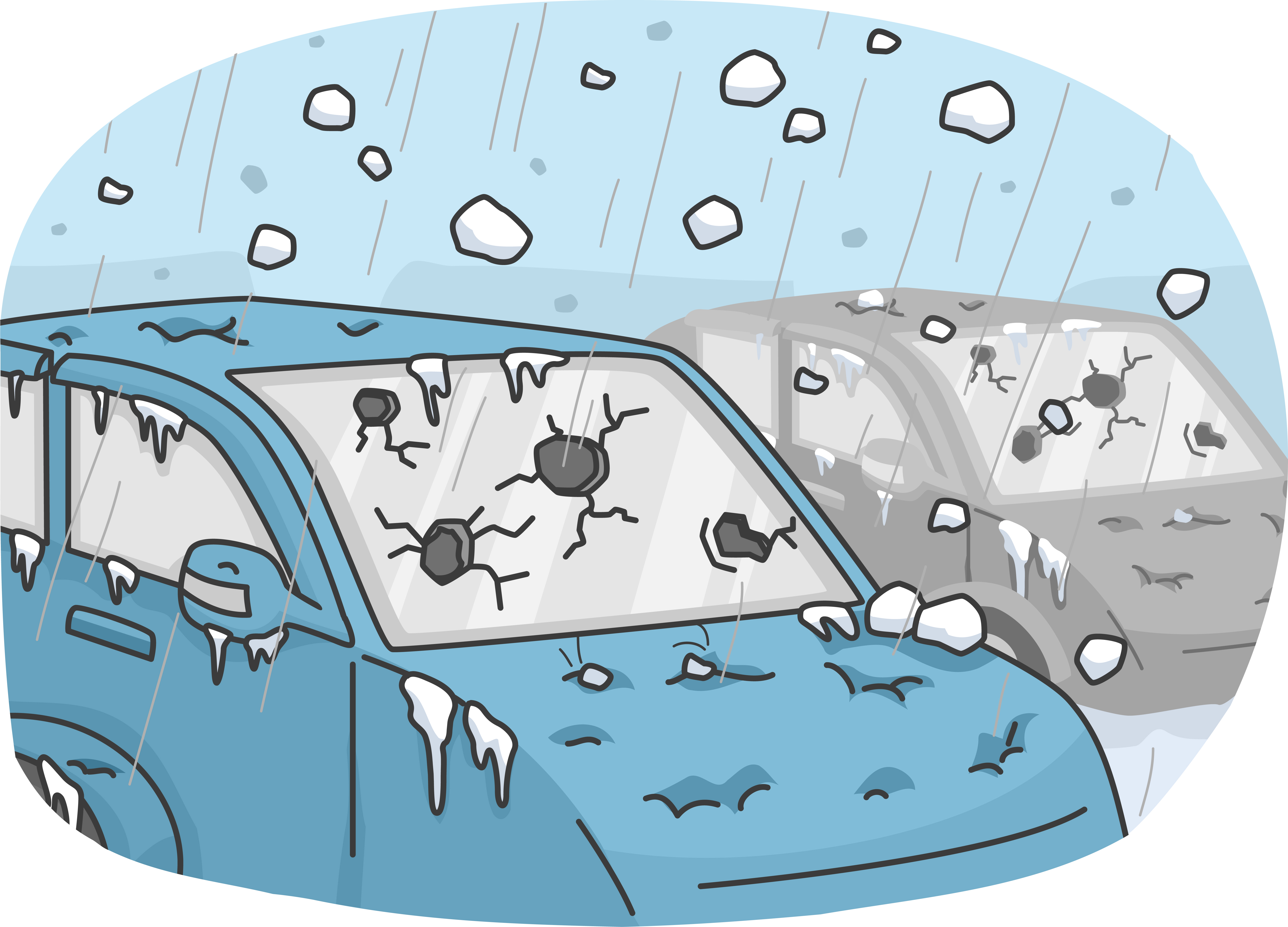 Winter damage clipart #16