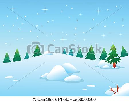 Vector Clipart of Winter BG.