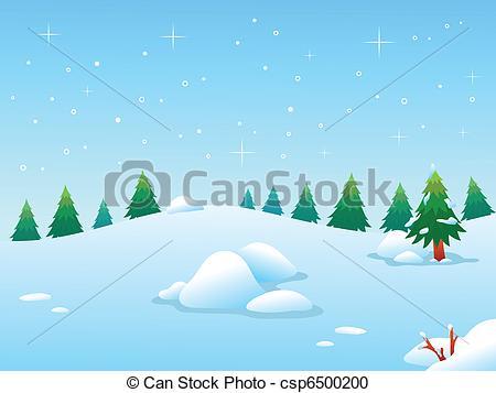 Vector Clipart of Winter BG.
