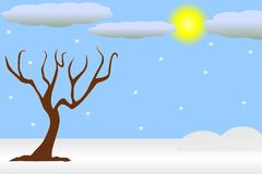 Sunny Winter Day Clipart.