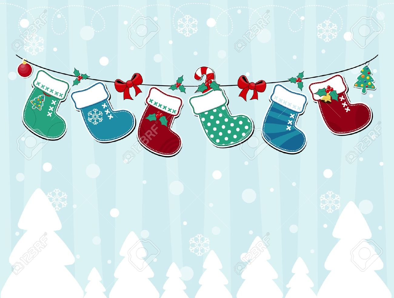 Winter Decorations Clipart.