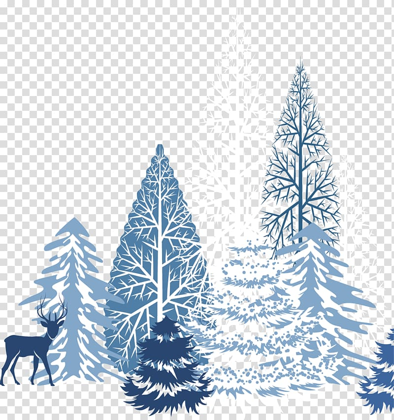 Winter Snowflake , Creative winter snow blue transparent.