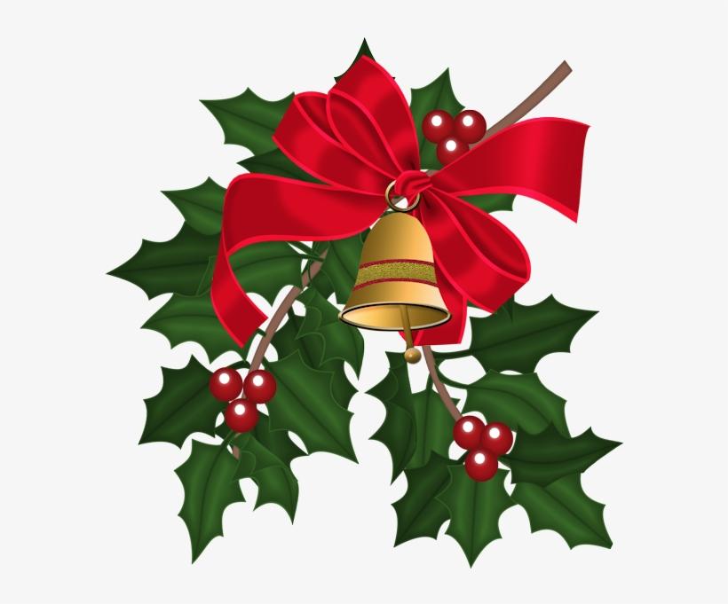 Christmas Bells & Holly Leaves.