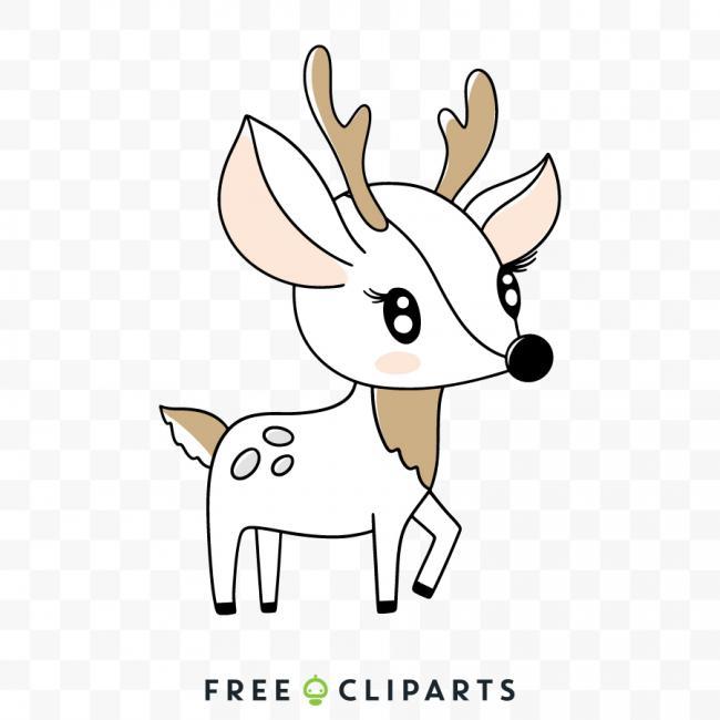Winter deer Clip Art.