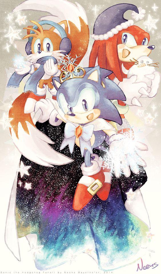 Sonic's Winter Dream by MissNeens.deviantart.com on @DeviantArt.