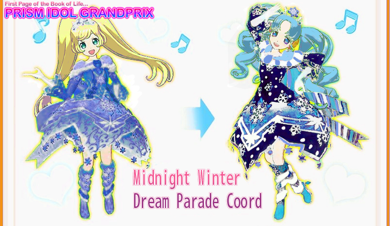 New Coord] Midnight Winter Dream Parade Coord.