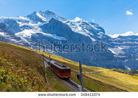 Jungfraujoch Train Stock Photos, Royalty.
