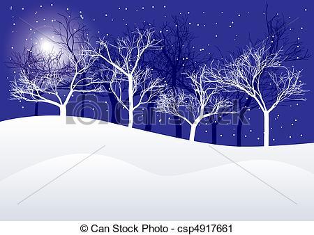 Vector Clip Art of Winter Background.