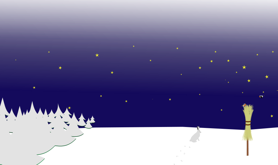 Winter Night Clipart.