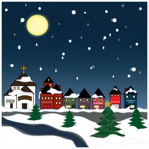 Christmas Night Scene Clipart Clipground