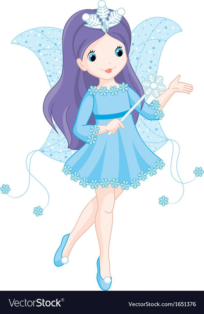Fairy winter Royalty Free Vector Image.