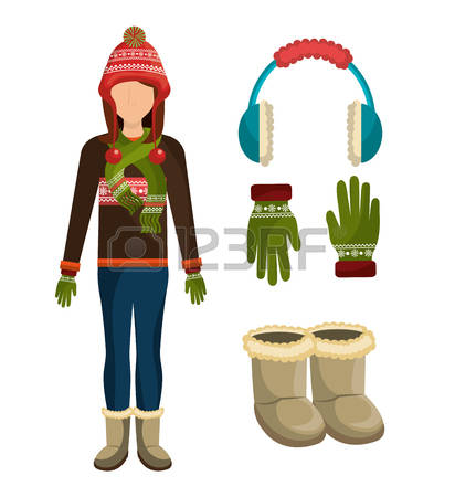 Winter Fashion Stock Vector Illustration And Royalty Free Winter.