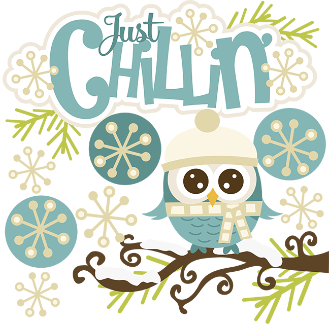 Just Chillin\' SVG snow svg owl svg winter svg cute clipart.