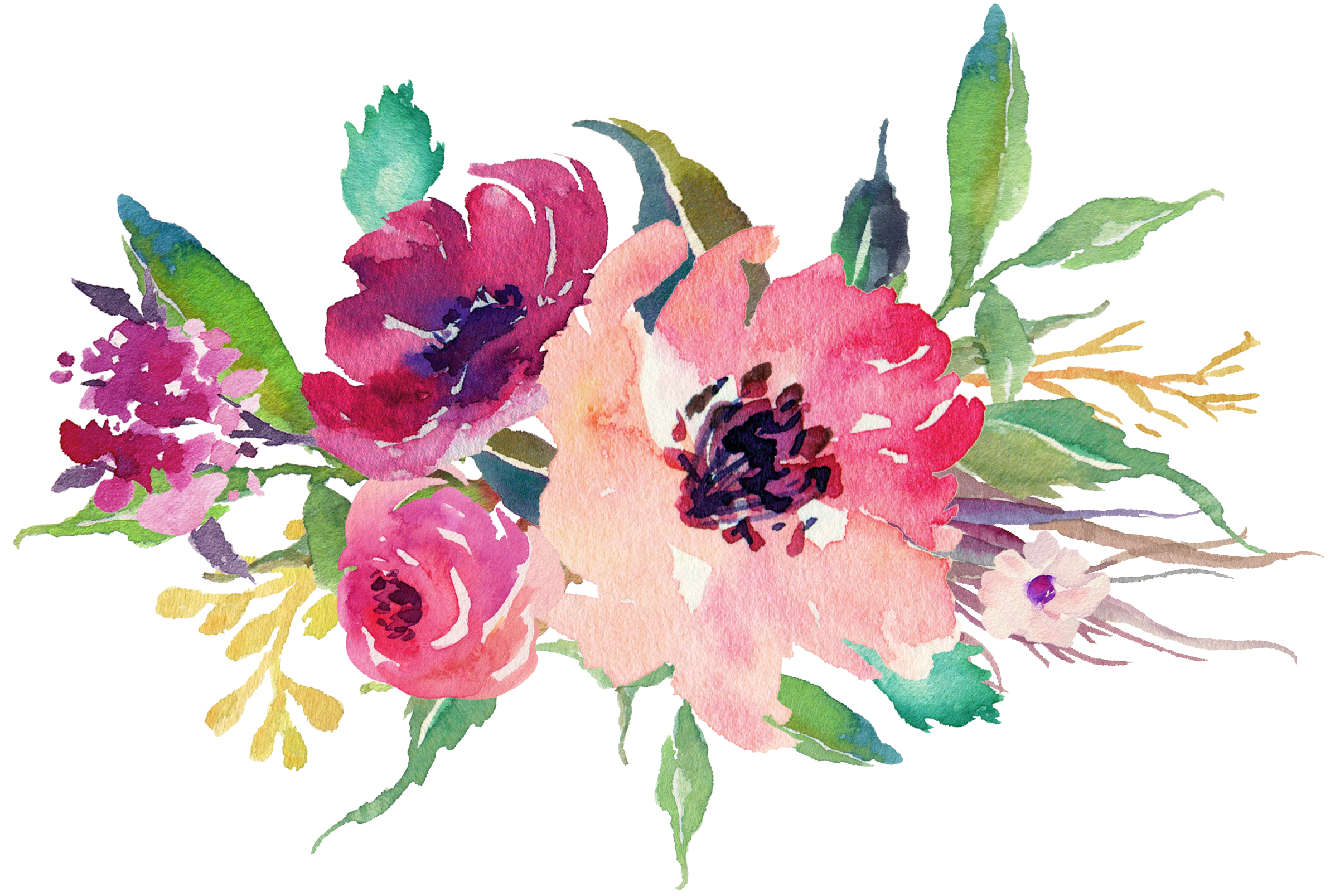 Floral clipart winter, Floral winter Transparent FREE for.
