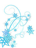 Clipart of Winter flowers decoration k1346251.