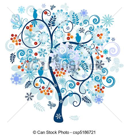 Winter Flower Clipart.