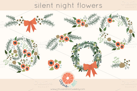 Winter Flower Clip Art.