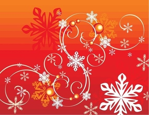 Vector winter snowflake flourish free vector download (3,475.