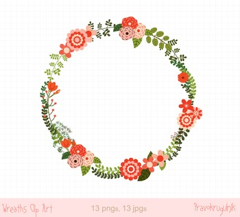 Christmas wreaths clipart, Holiday floral wreath frame, Winter flower border.