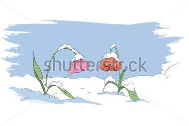 Winter Flower Clip Art.