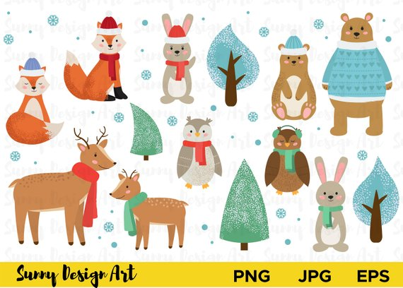 Winter Animal Clipart (105+ images in Collection) Page 1.