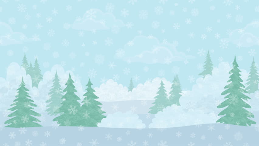 Snowy Forest Clipart.