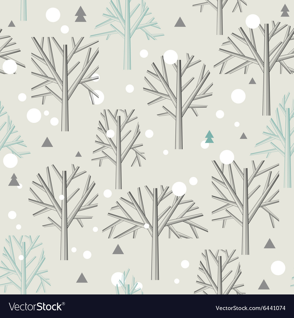 Seamless pattern for Winter forest and christmas.