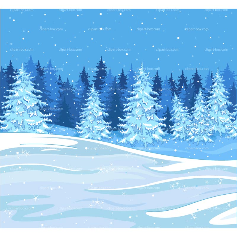 CLIPART WINTER FOREST.