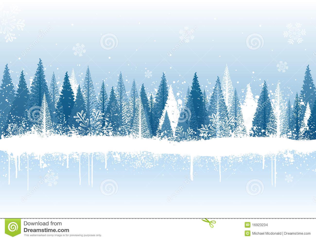 Winter Forest Clip Art.