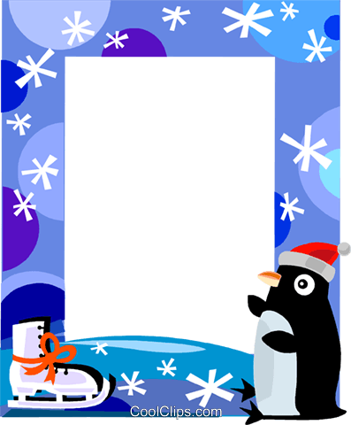 Winter Frame Royalty Free Vector Clip Art illustration.