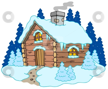Winter House Clipart.