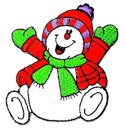 Amazon.com: Happy Snowman Red Sweater Winter Merry Christmas.