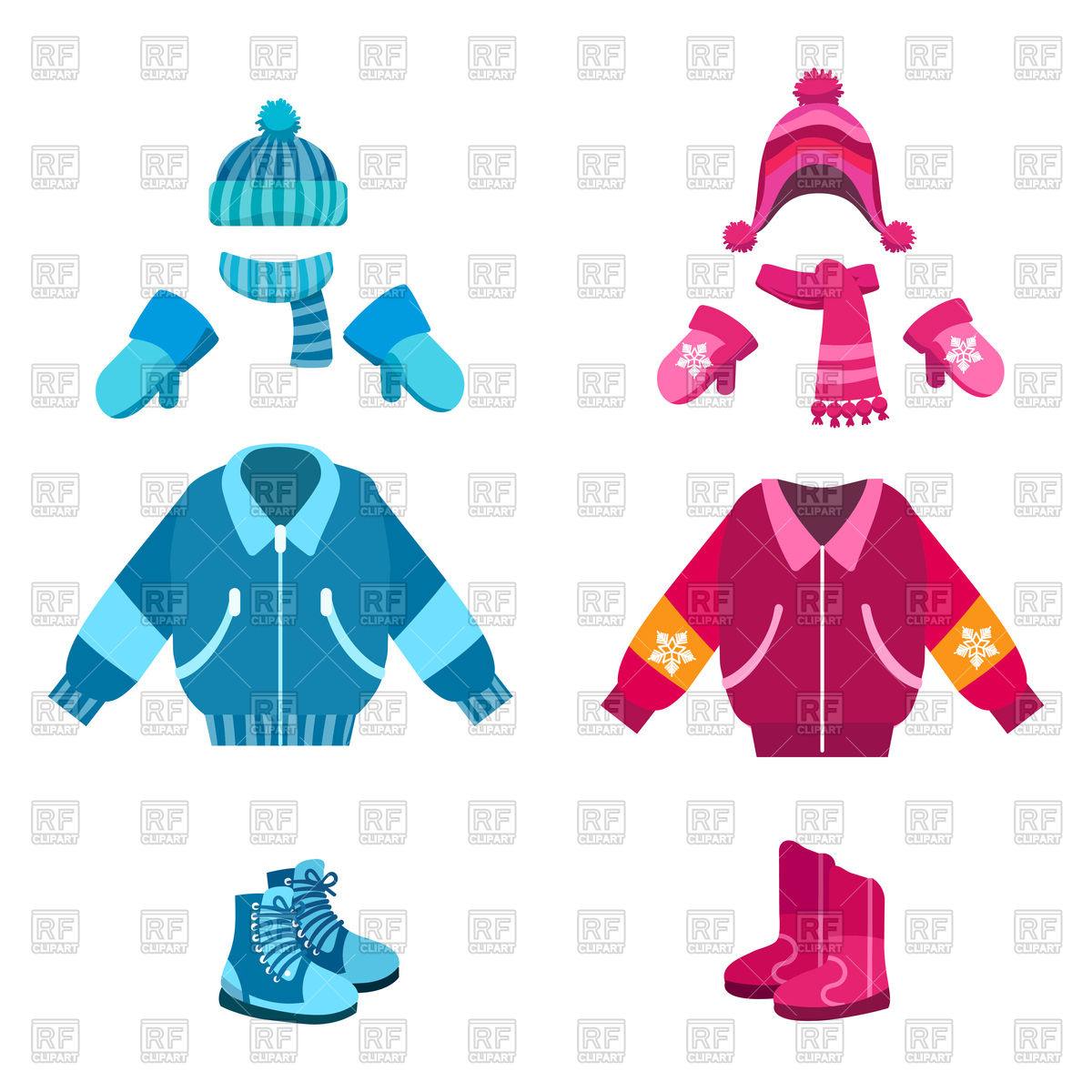 Free Clipart Of Winter Clothing.