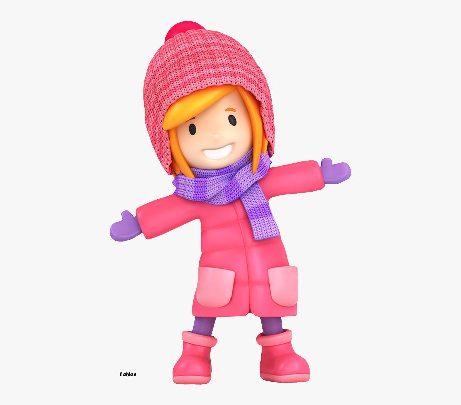 Winter Little Girl Clip Art.