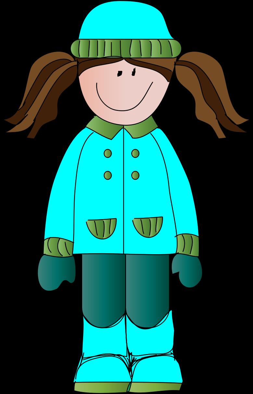Girl In Winter Clipart.