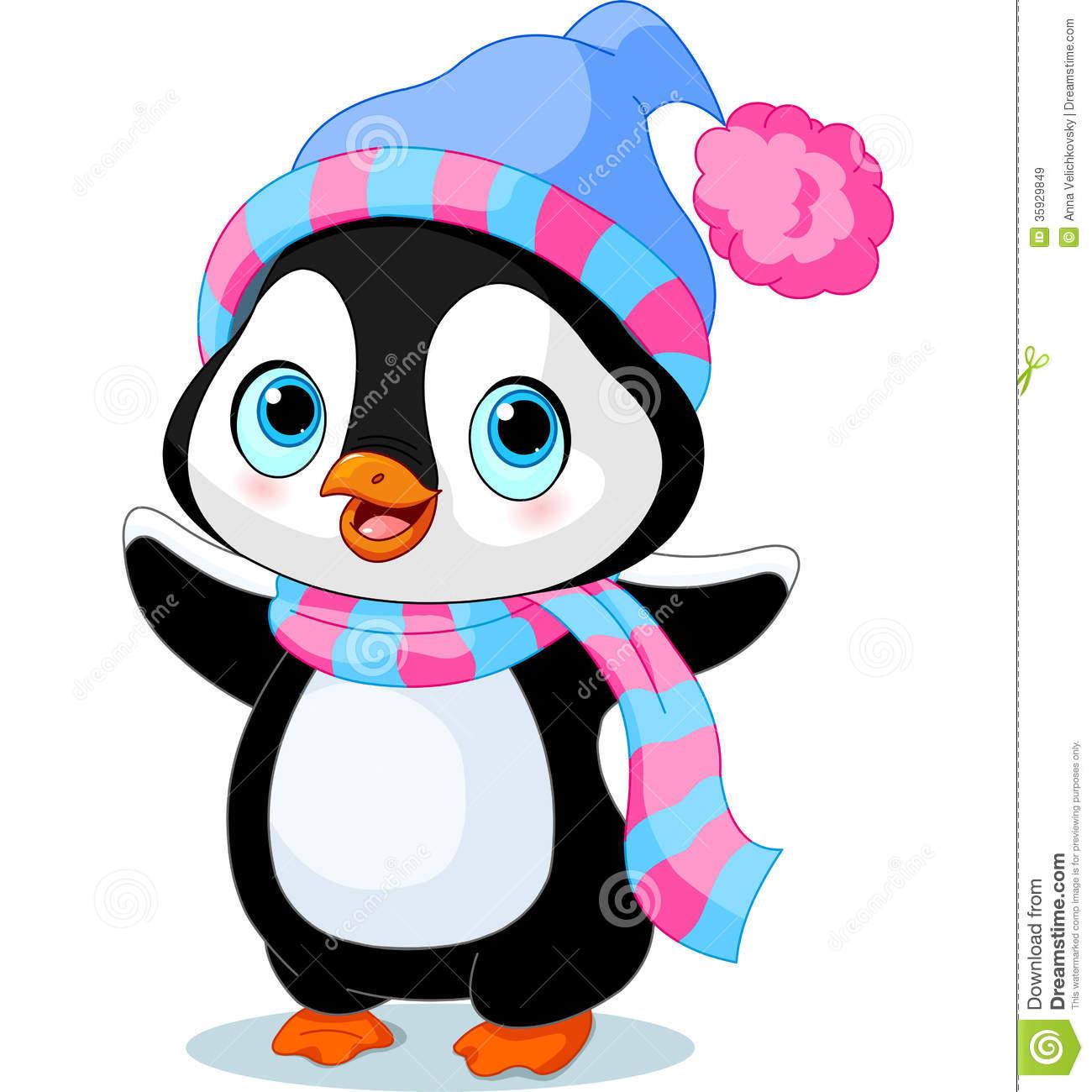 Girl Penguins Clipart.