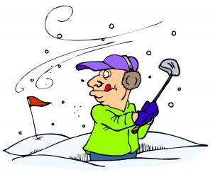 Winter Golf Clipart.