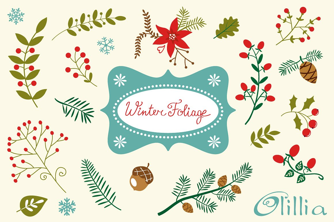 Winter Greenery Cliparts Free Download Clip Art.