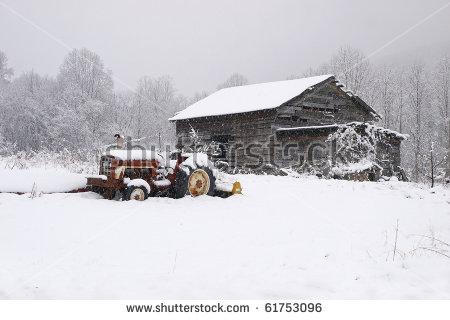 Snow Barn Stock Photos, Royalty.