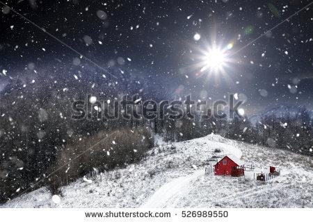Snow Trees Barn Banco de imágenes. Fotos y vectores libres de.