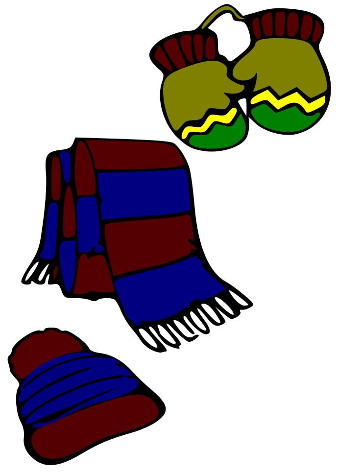 2322 Gloves free clipart.