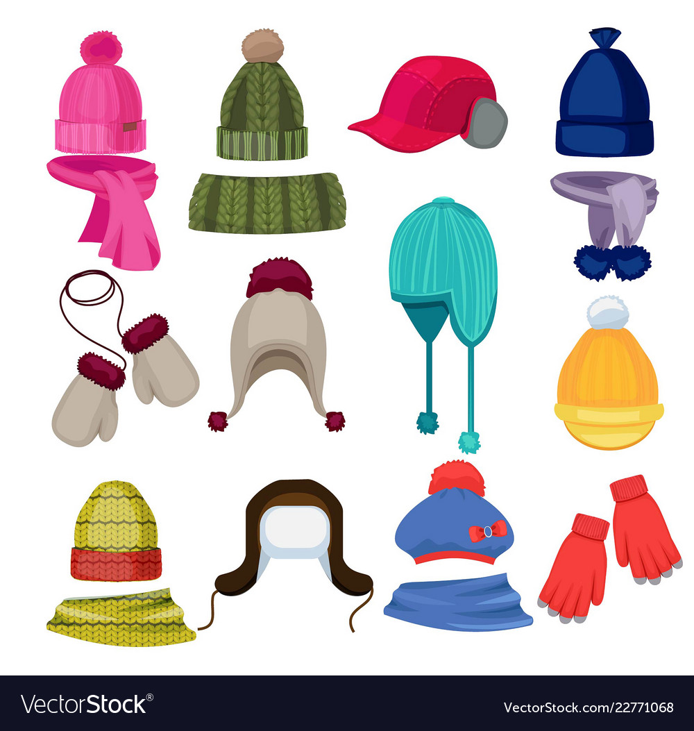 Winter hat cartoon headwear cap scarf and other.