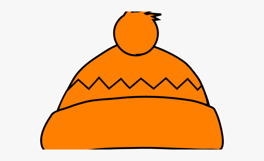 Beanie Clipart Orange Hat.