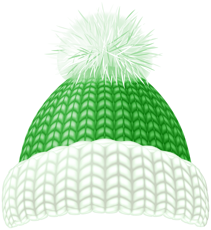 Green Winter Hat Clip Art Image.