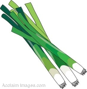Clipart Illustration of a Bunch of Green Onions.