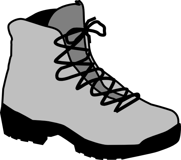 Hiking boot clipart.