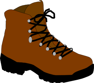 Hiking boots simple drawing.