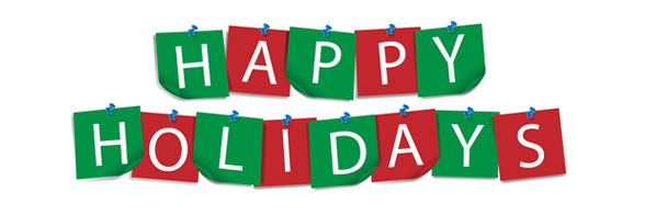 Happy Holidays Clipart Banner.
