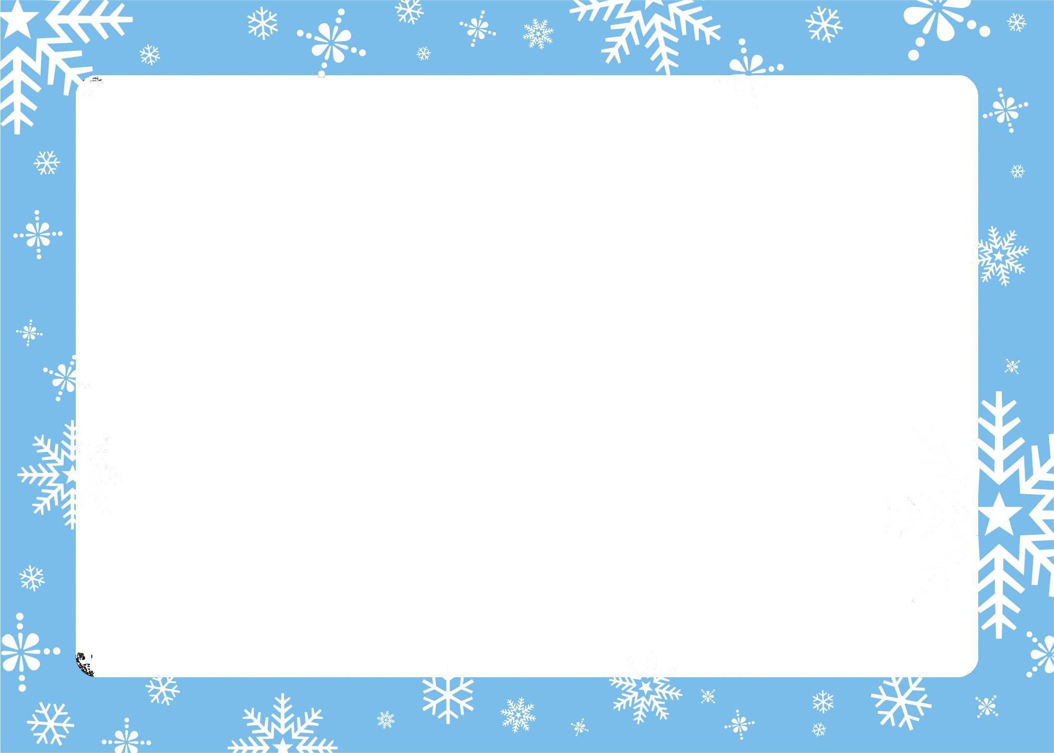 blue holiday border.