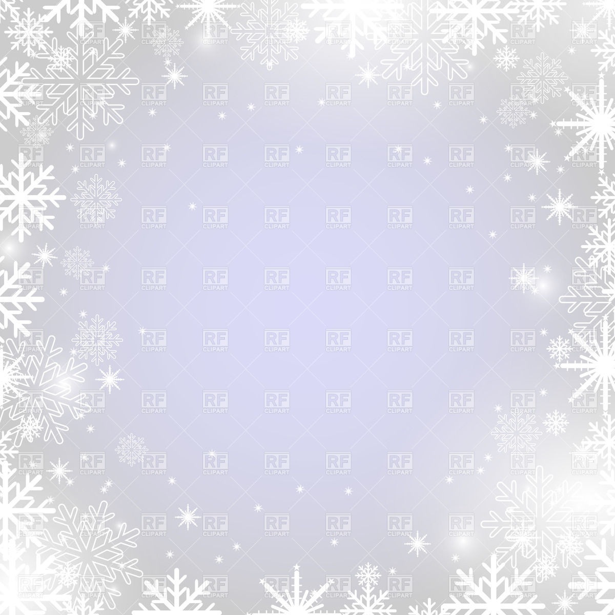 Winter frame with snowflakes Stock Vector Image.